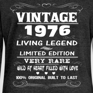 VINTAGE 1976-LIVING LEGEND T-Shirts - Women's Boat Neck Long Sleeve Top