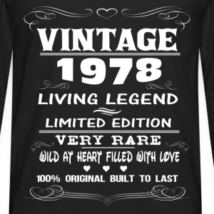 VINTAGE 1978-LIVING LEGEND T-Shirts - Men's Premium Longsleeve Shirt