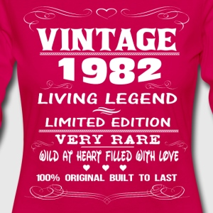 VINTAGE 1982-LIVING LEGEND T-Shirts - Women's Premium Longsleeve Shirt