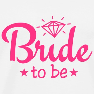 bride to be with diamond 1c Topy - Koszulka męska Premium