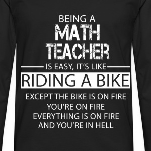 Math Teacher T-Shirts - Men's Premium Longsleeve Shirt