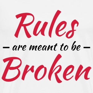 Rules are meant to be broken Langarmshirts - Männer Premium T-Shirt