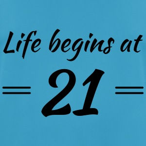 Life begins at 21 Sports wear - Men's Breathable T-Shirt