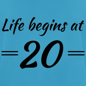 Life begins at 20 Sports wear - Men's Breathable T-Shirt