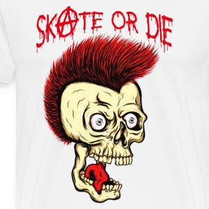 MC VICE - Skate Or Die (Vintage / for White) Langarmshirts - Männer Premium T-Shirt