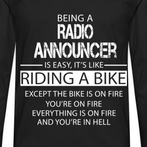 Radio Announcer T-Shirts - Men's Premium Longsleeve Shirt