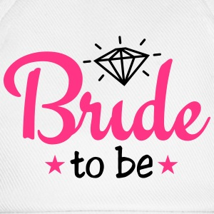 bride to be with diamond 2c  Aprons - Baseball Cap