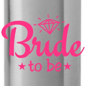 bride to be with diamond 1c Caps & Hats - Water Bottle