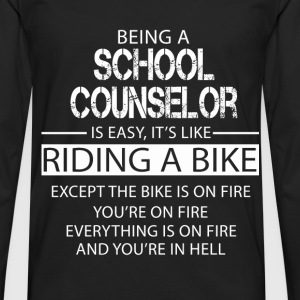 School Counselor T-Shirts - Men's Premium Longsleeve Shirt