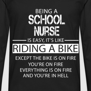 School Nurse T-Shirts - Men's Premium Longsleeve Shirt
