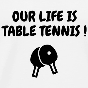 Table Tennis - Ping Pong - Sport - Racket - Ball Babybody - Premium-T-shirt herr