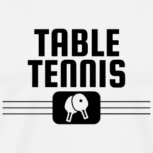 Table Tennis - Ping Pong - Sport - Racket - Ball  Aprons - Men's Premium T-Shirt