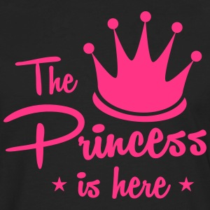 the princess is here with royal crown T-Shirts - Men's Premium Longsleeve Shirt