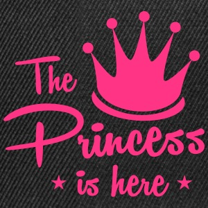 the princess is here with royal crown T-Shirts - Snapback Cap