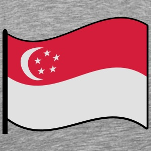 waving singapore flag Sports wear - Men's Premium T-Shirt