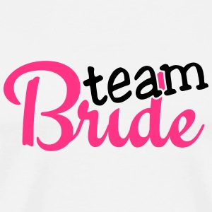 team bride 2c Buttons - Mannen Premium T-shirt