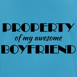 Property of my awesome boyfriend Sports wear - Men's Breathable T-Shirt