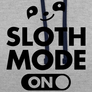 Sloth Mode (On) T-Shirts - Contrast Colour Hoodie