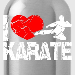 I love Karate  Tops - Trinkflasche