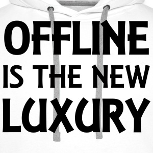 Offline is the new luxury Langarmshirts - Männer Premium Hoodie