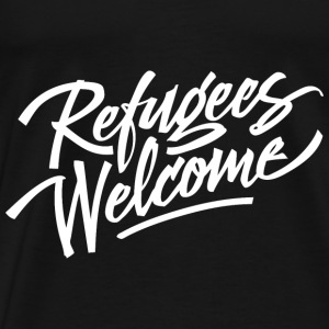 refugees welcome white Bags & Backpacks - Men's Premium T-Shirt