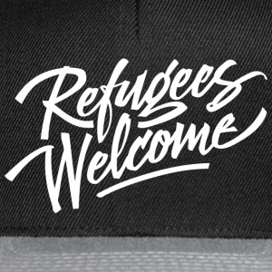 refugees welcome white Bags & Backpacks - Snapback Cap