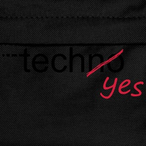 Techno Yes Rave Festival T-Shirts - Kinder Rucksack