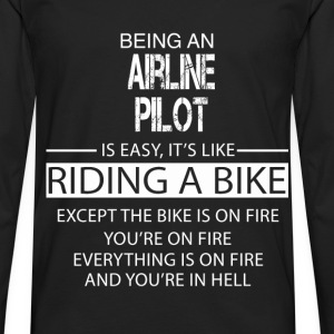 Airline Pilot T-Shirts - Men's Premium Longsleeve Shirt