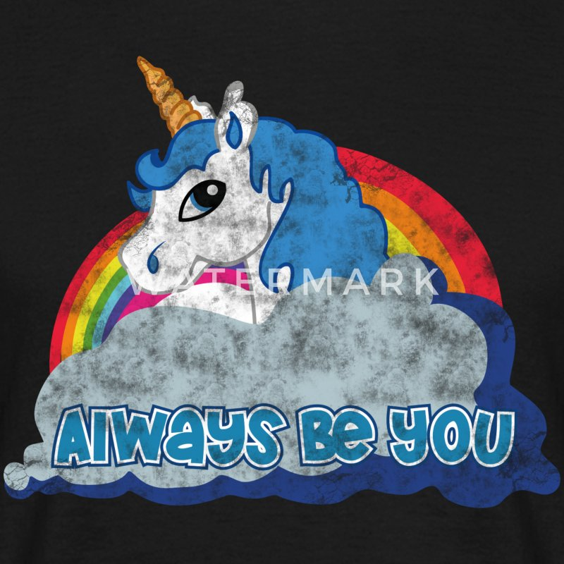 Always be you (Unicorn) grunge T-Shirts - Männer T-Shirt