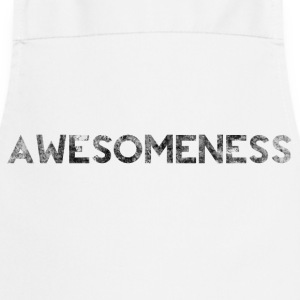 Awesome Grunge Bold Splat Text  Shirts - Cooking Apron