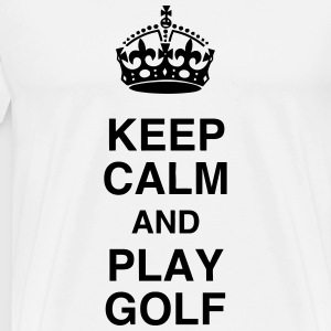 Golf - Sport - Golfer - Club - Green - Game - Play Forklæder - Herre premium T-shirt