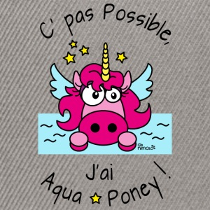 T-shirt mr Licorne Pas possible, J'ai aquaponey - Casquette snapback