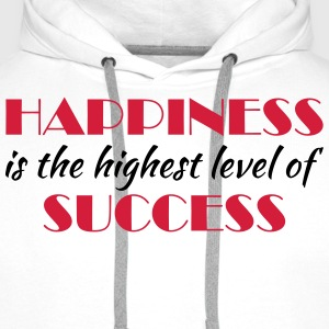 Happiness is the highest level of success Långärmade T-shirts - Premiumluvtröja herr