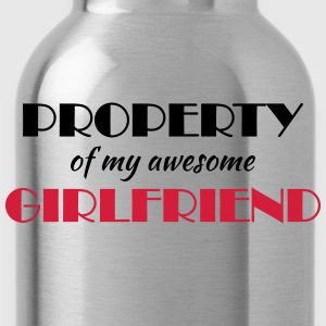 Property of my awesome girlfriend T-shirts - Drinkfles