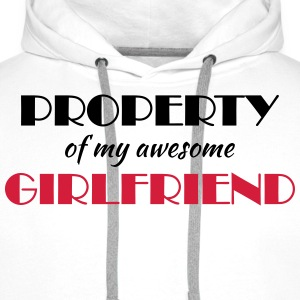 Property of my awesome girlfriend T-Shirts - Men's Premium Hoodie