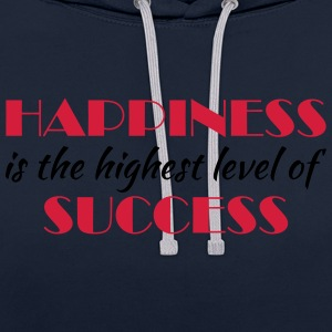Happiness is the highest level of success Sportsklær - Kontrast-hettegenser