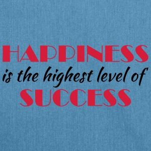 Happiness is the highest level of success Sportbekleidung - Schultertasche aus Recycling-Material