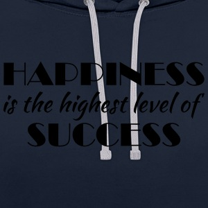 Happiness is the highest level of success Sportkläder - Kontrastluvtröja
