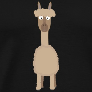 Brown Alpaca Long Sleeve Shirts - Men's Premium T-Shirt