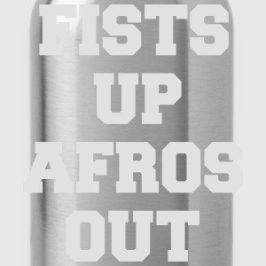 fists up afros out T-shirts - Vattenflaska