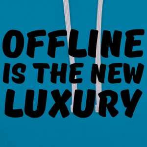 Offline is the new luxury T-Shirts - Kontrast-Hoodie