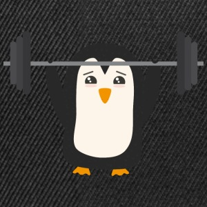 Penguin weight lifting Hoodies & Sweatshirts - Snapback Cap
