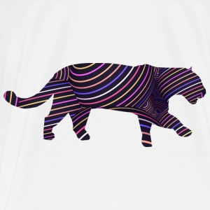 Jaguar in Stripes Bags & Backpacks - Men's Premium T-Shirt