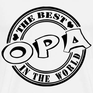 Opa The best in the world Langarmshirts - Männer Premium T-Shirt
