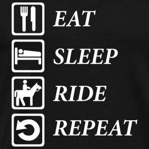 Eat-Sleep-Repeat Sonstige - Männer Premium T-Shirt