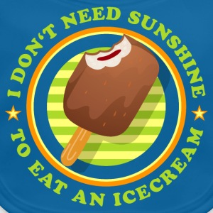 i_dont_need_sunshine_to_eat_icecream_072 T-Shirts - Baby Bio-Lätzchen