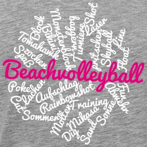 VolleyballFREAK cloud Beach pink-weiss - Männer Premium T-Shirt