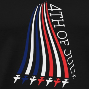 Jets with Stars and Stripes Langærmede shirts - Herre premium T-shirt