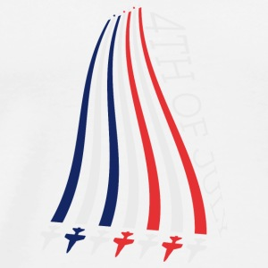 Jets with Stars and Stripes Long Sleeve Shirts - Men's Premium T-Shirt