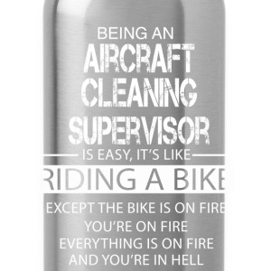 Aircraft Cleaning Supervisor T-Shirts - Water Bottle